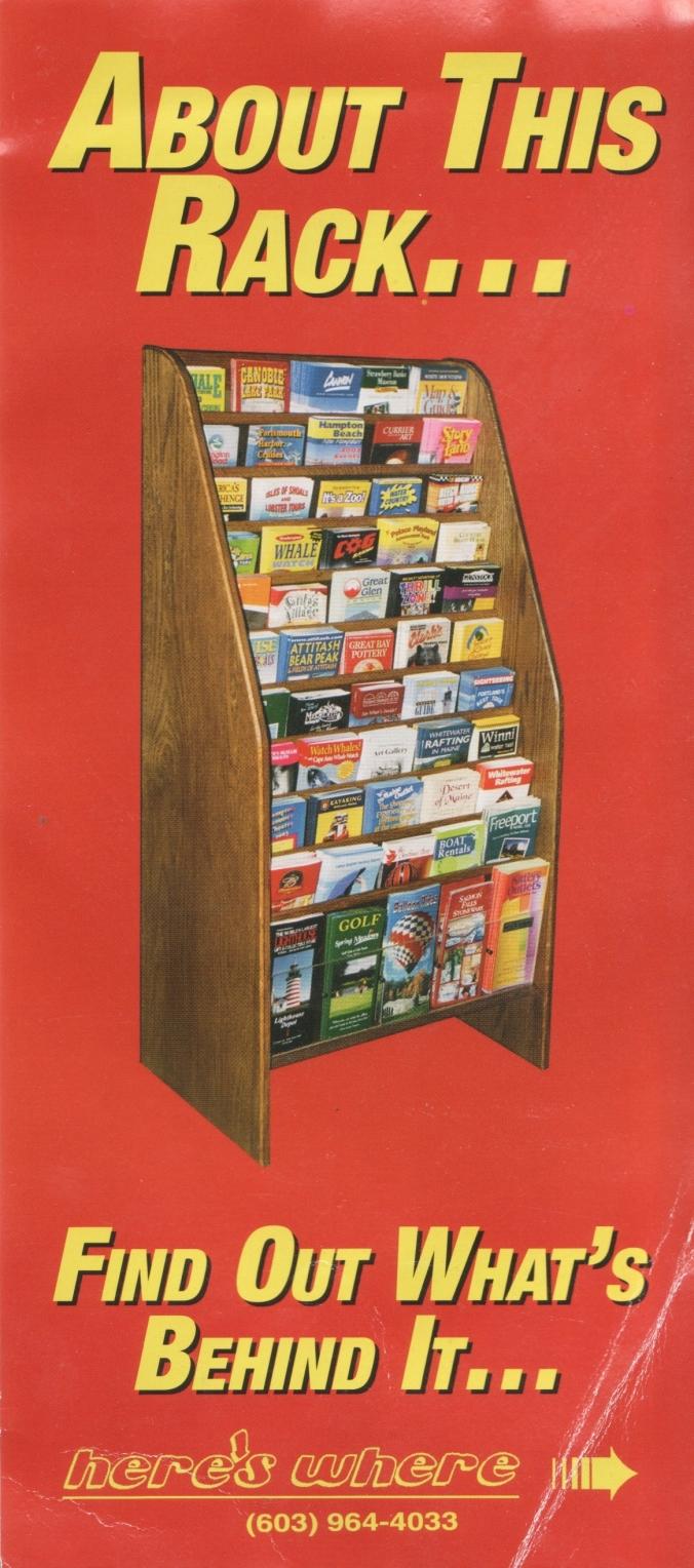 brochure rack brochue (f)