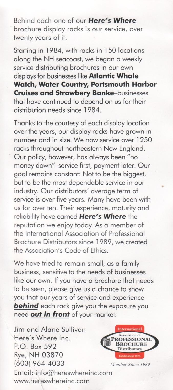 brochure rack brochure (r)